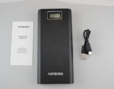 Askborg ChargeCube Powerbank Lieferumfang