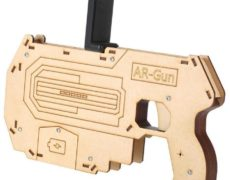 Augmented Reality Pistole fürs Smartphone in der Seitenansicht