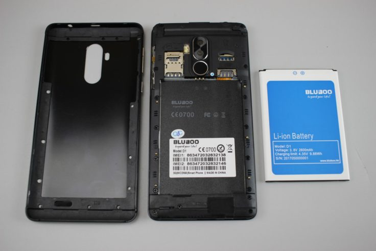 Bluboo D1 Smartphone Akku