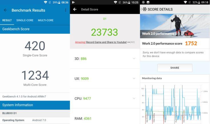 Bluboo D1 Smartphone Screenshots