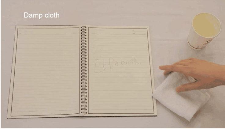 ELFIN Notizbuch Wischen