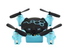 FQ777 Mini Quadrocopter in blau und in Frontansicht