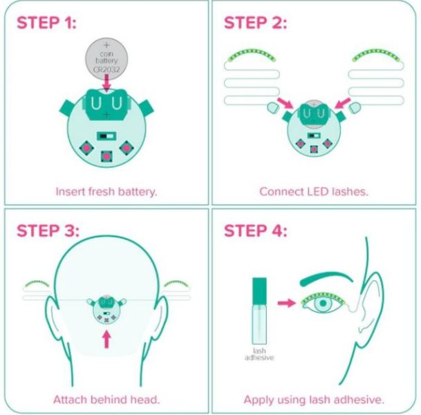 LED Wimpern Eyelash