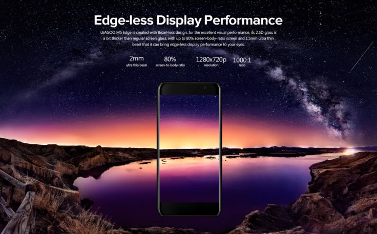 Leagoo M5 Edge Display