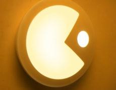 Pac-Man LED Nachtlicht wenn es eingeschaltet ist