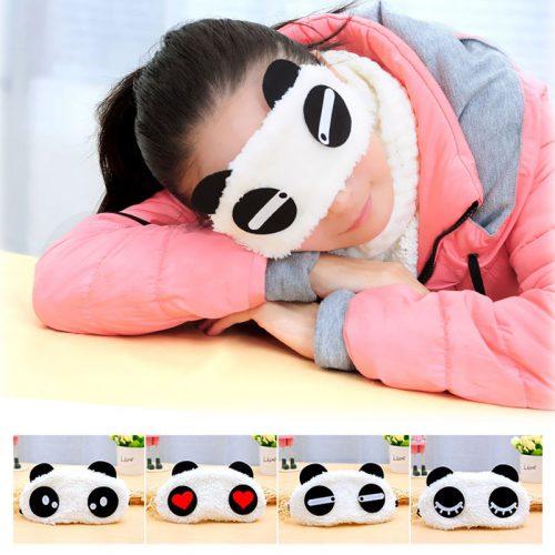 Getragene Pandamaske in verschiedenen Variationen