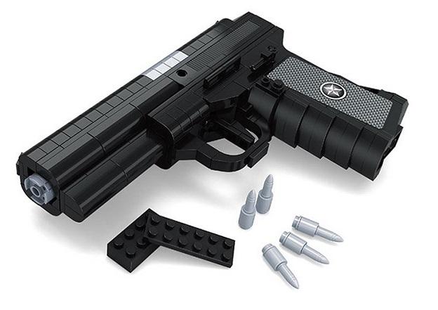 Zahnstocher Armbrüste - Schusswaffen Bauklötze