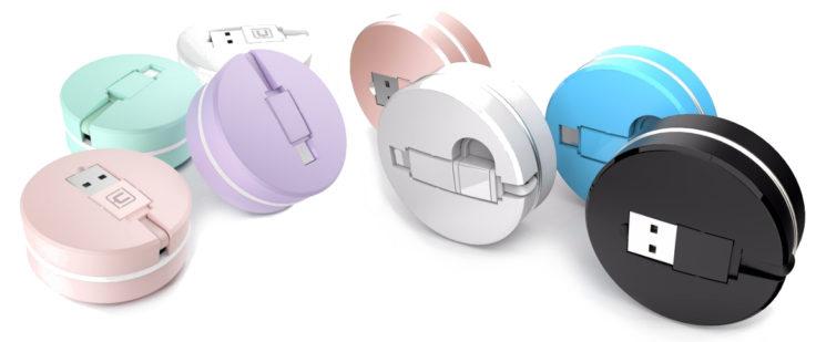 USB-Kabel in Macaron-Form