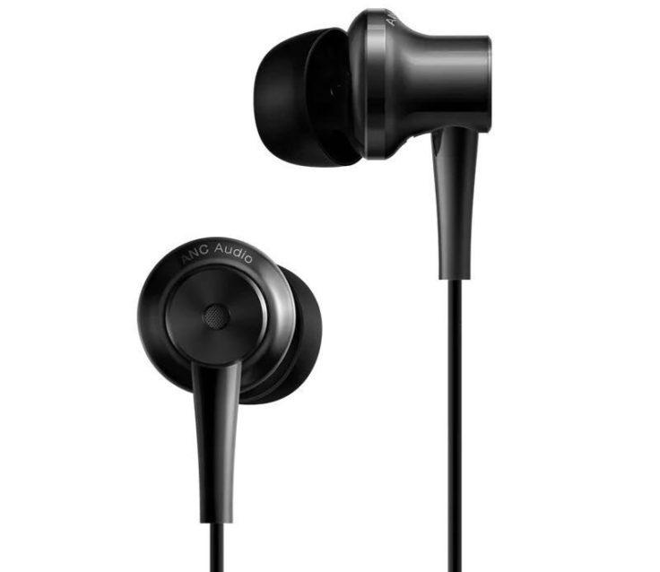 Schwarze Xiaomi ANC In-Ears Kopfhörer