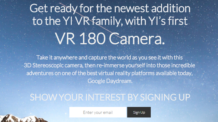 YI 180 VR Camera Produktseite