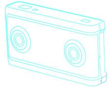 YI 180 VR Camera Umriss