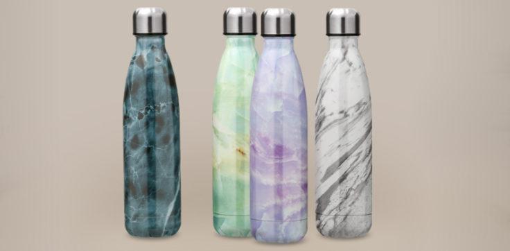 Die KCASA Thermosflasche in Marmor-Optik