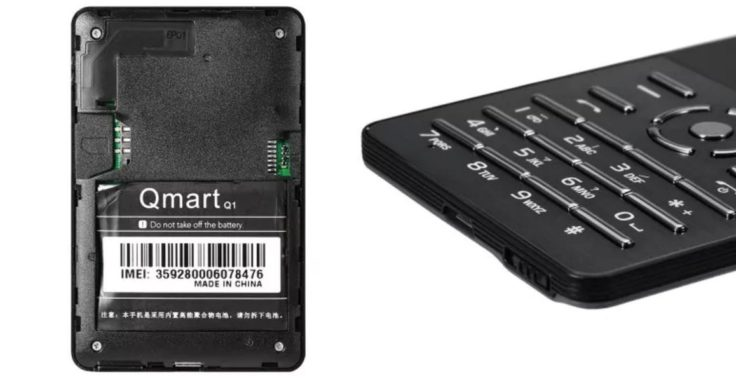 AIEK Q1 Mini Handy Rückseite & Anschlüsse