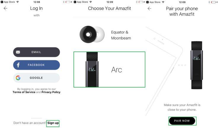 Xiaomi Huami Amazfit Arc A1603 Fitness Tracker App