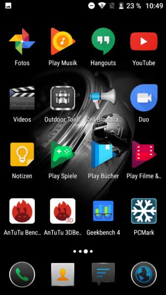 Screenshot vom Betriebssystem auf dem Blackview BV8000 Pro