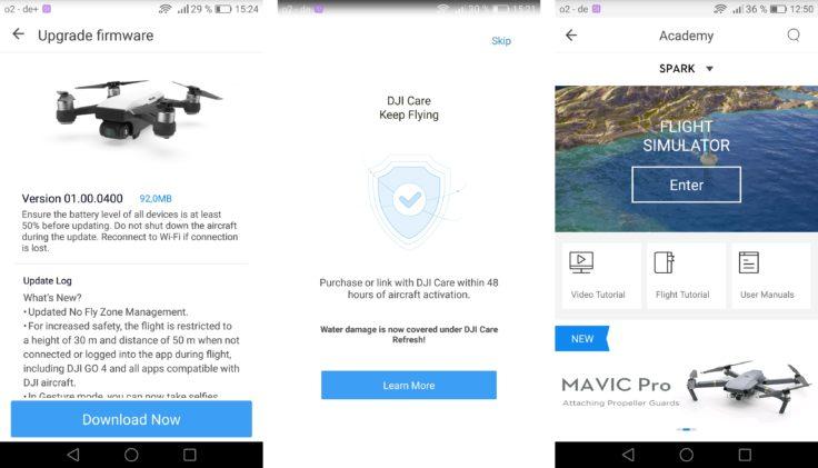 DJI Spark DJI GO 4 App