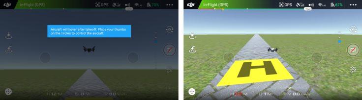 DJI Spark DJI GO 4 App Flugsimulator