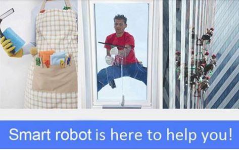 Fensterputzroboter Werbung
