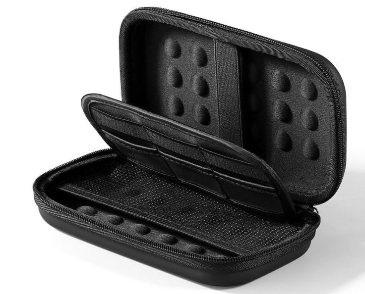 Festplattentasche schwarz leer