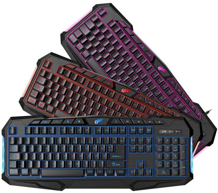 Gaming Tastatur von 1byone in verschiedenen Farben