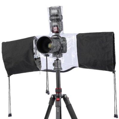 DSLR Kamera Regenschutz auf stativ