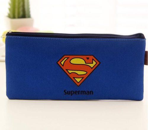 blaues Mäppchen mit Superman Logo