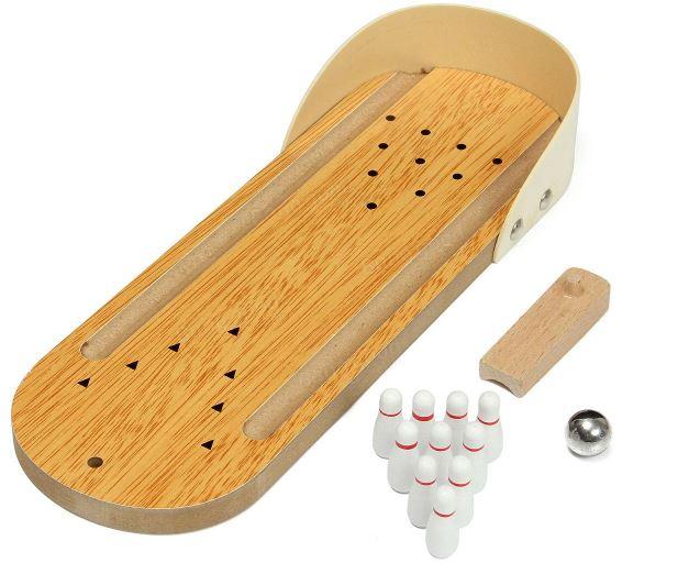 Mini-Bowlingbahn Holz