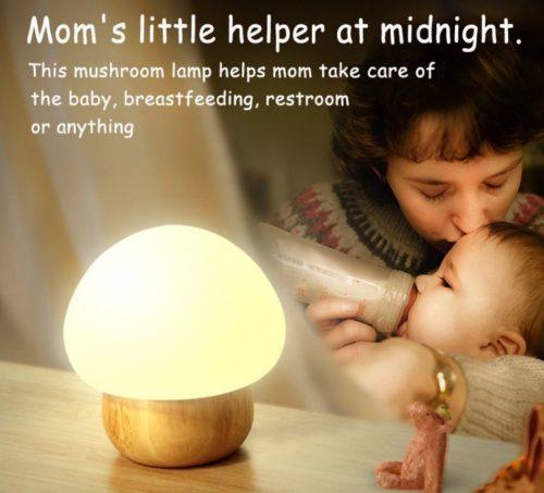 Nachttischlampe Pilz Werbung