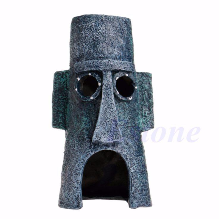 Stein Haus mit Gesicht
