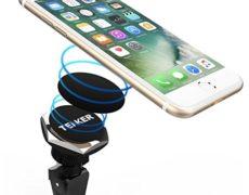 Magnetische Smartphonehalterung von TENKER mit iPhone