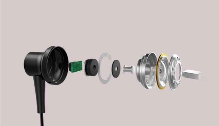 Bestandteile des Inneren eines Kopfhörers