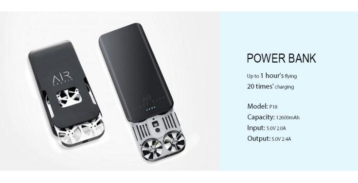 AirSelfie E03 Mini Drohne Powerbank