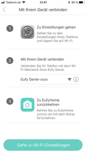 Anker Eufy Genie App Einstellungen