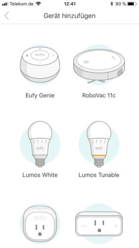 Anker Eufy Genie App Geräte