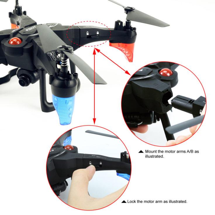 FQ777 FQ20W Drohne Bauteile Montage