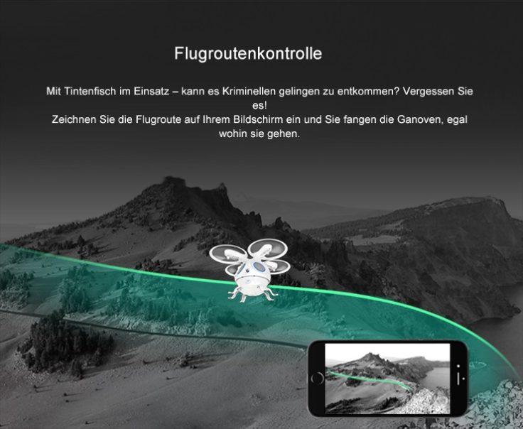 Flypro Tintenfisch Flugroutenkontrolle