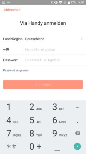 Haier XShuai Saugroboter App Handy Anmeldung