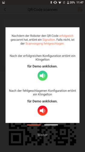 Haier XShuai Saugroboter App Demo