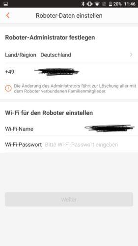 Haier XShuai Saugroboter App WiFi
