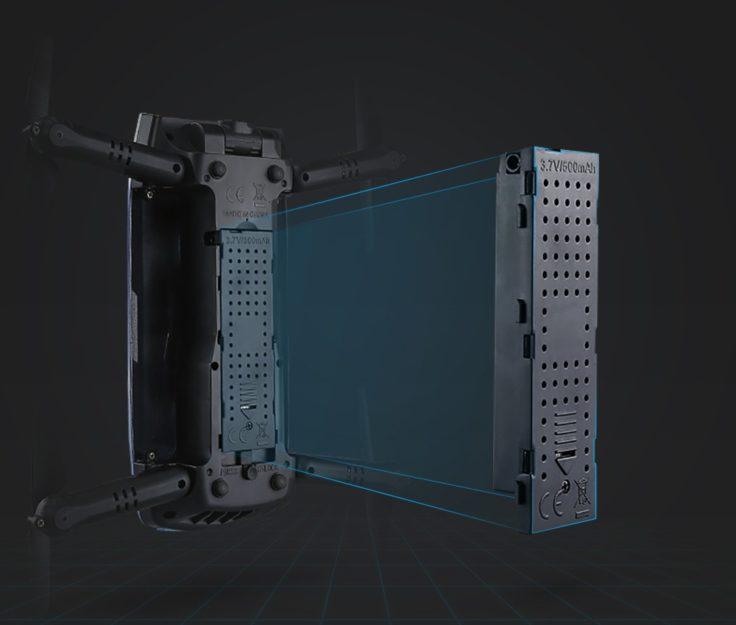 JJRC Elfie+ Selfie Drohne Akku