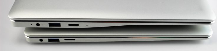Jumper EZBook 3 Pro und CHUWI LapBook 12.3 Anschlüsse