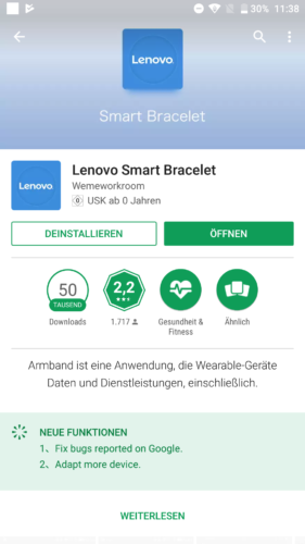 Lenovo HW01 Fitness Tracker App Download