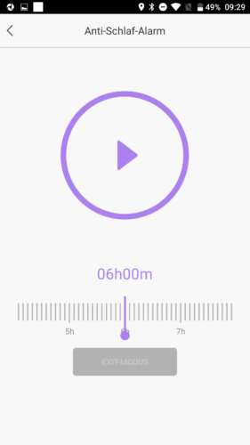 Lenovo HW01 Fitness Tracker App Schlaftracker