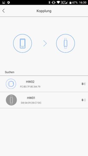 Lenovo HW02 Fitness Tracker Kopplung