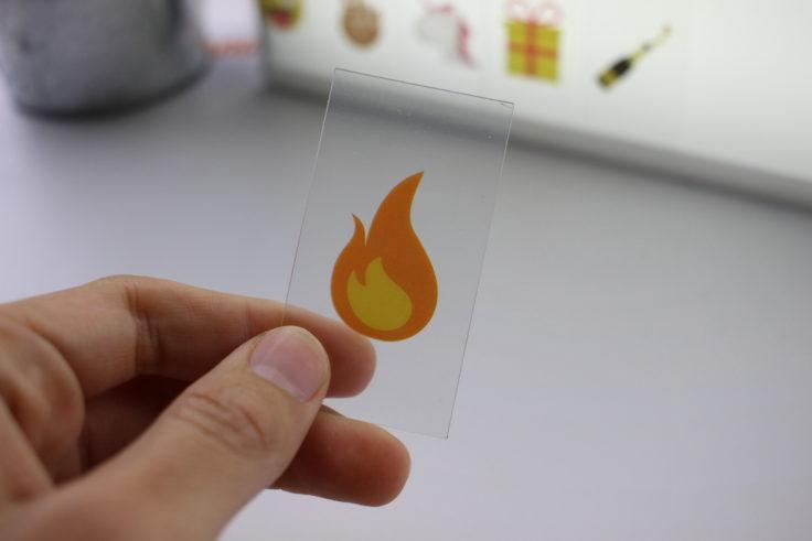 Lichtbox Kärtchen Feuer Emoji