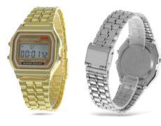 Retro Casio Uhr Digital Gold Silber