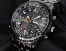 SKMEI Armbanduhr schwarz