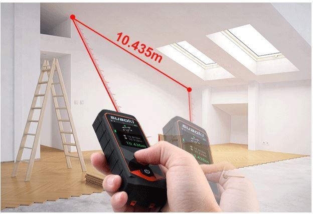 Hilti Pd 10 Laser Entfernungsmesser : Suaoki p7: digitales messgerät mit 2 punkt abstandsmessung für 49u20ac