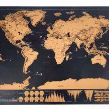 Weltkarte zum Freirubbeln