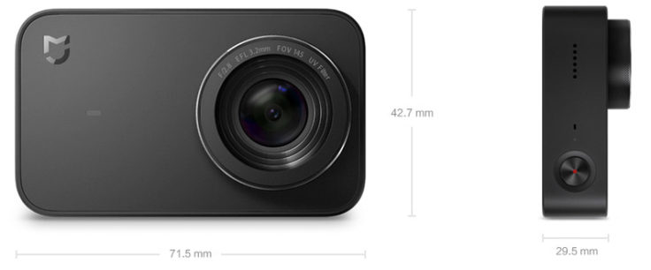 Xiaomi Mijia Compact Camera Maße